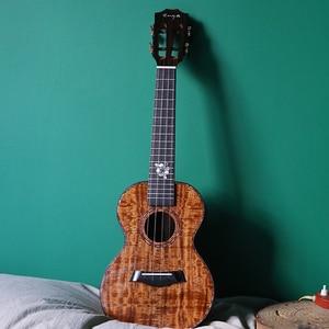 """Image 5 - Enya K5 Ukulele 5A Tijger Streep Koa Ukelele 26 """"23"""" Hawaii Gitaar 4 String Mini Gitaar Muziekinstrumenten professionals"""