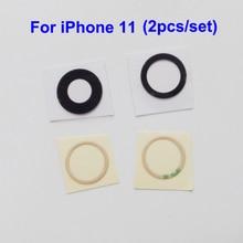 YUYOND 100 stücke (50 set) zurück Hinten Kamera Glas Objektiv Abdeckung Ersatz Für iPhone 11 Mit Klebstoff Aufkleber Großhandel