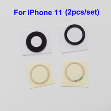 YUYOND 100pcs(50set) Back Rear Camera Glass Lens Cover Replacement For iPhone 11 With Adhesive Sticker Wholesale