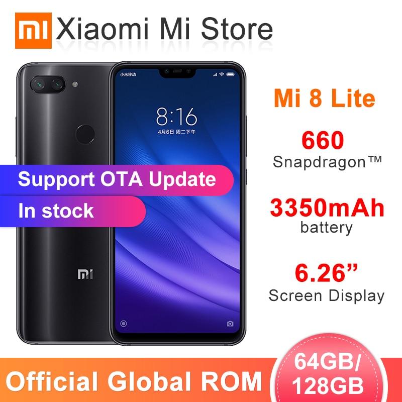 Global ROM Xiaomi Mi 8 Lite 6GB RAM 64GB/128GB ROM Smartphone Snapdragon 660 6.26