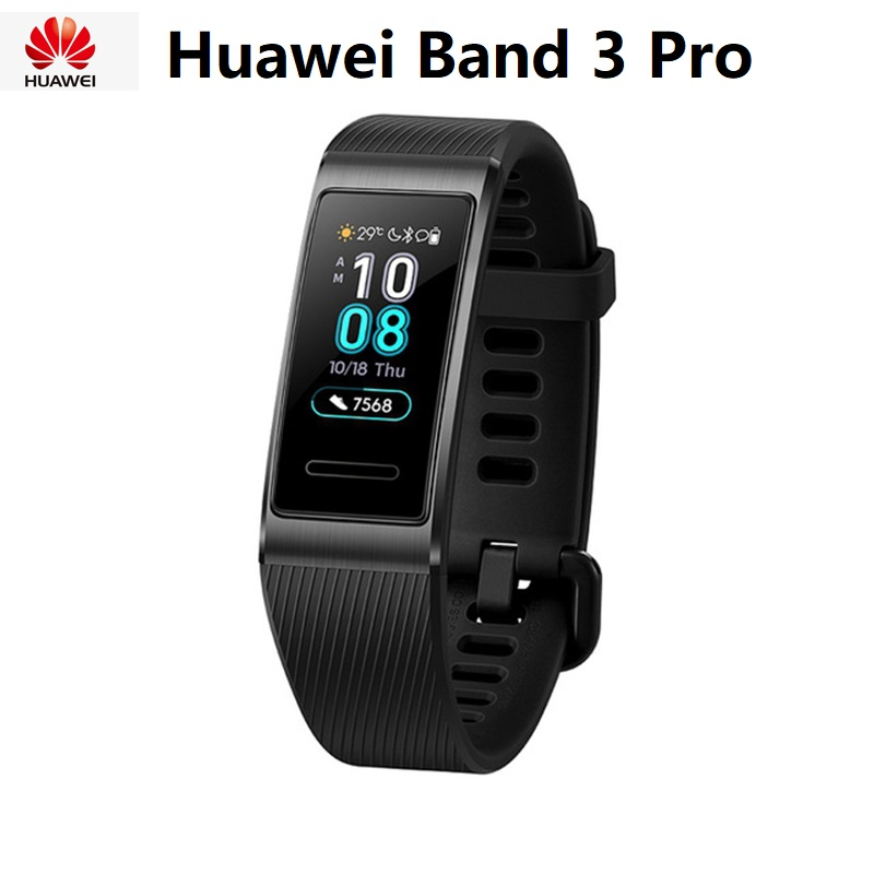 Original Huawei Band 3 Pro GPS Smart Band Metal Frame Amoled 0.95inch Full Color Display Waterproof Fitness Heart Rate Sleep|Smart Wristbands| - AliExpress