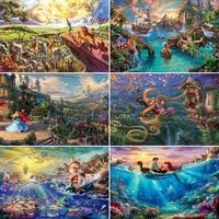 Diamante pintura Disney dibujo de paisaje la fantasía de 5D bordado completo conjunto cuadrado Kit para hacer mosaicos hogar Decoración regalo
