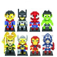 Novo criador super herói bloco de diamante blocos de construção brinquedos tijolos educativos figuras de ação brinquedos para crianças natal