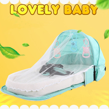 Baby Bed Portable Folding Baby Bed Nest Cot For Travel Foldable Bed Bag With Mosquito Net Infant Sleeping Basket With Toys