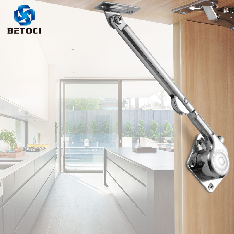 2PCS Kitchen Cupboards Hide Door With Upturned And Downturned Hinges, Door Support Bar For Lift Hydraulic Rod Furniture Hardware