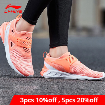 Li-Ning Women COLOR ZONE Running Shoes Cushion Breathable Wearable LiNing li ning Sport Shoes Light Sneakers ARHN086 XYP686