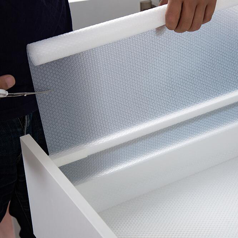 Clear Waterproof Oilproof Shelf Cover Mat Drawer Liner Cabinet Non Slip Table Adhesive For Kitchen Cupboard Refrigerator
