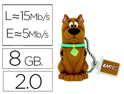 USB MEMORY EMTEC FLASH 8 GB 20 SCOOBY DOO