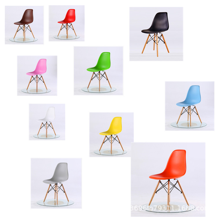 Wholesale Eames Plastic Negotiate Chair Northern European-Style Creative Building Blocks Leg Dining Tables And Chairs Coffee Cha