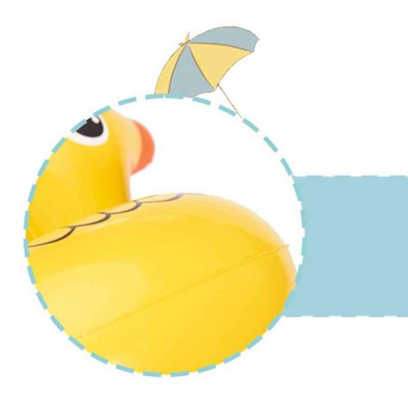 ألعاب أطفال بطة صفراء صغيرة حامل الكأس نفخ كوستر العائمة شرب زجاجة تخزين الرف Q6PD