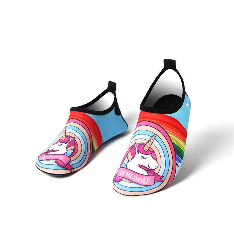 الأطفال المياه الرياضة صندل شاطئ يونيكورن فلامنغو تصفح السباحة الجوارب أطفال حفاة أكوا أحذية البحر حذاء فتاة الغوص النعال
