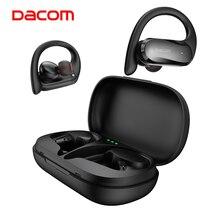 Dacom fones de ouvido ipx5 tws, fones de ouvido sem fio esportivos, à prova d água, controle de toque, sistema estéreo baixo, bluetooth 5.0, microfone duplo