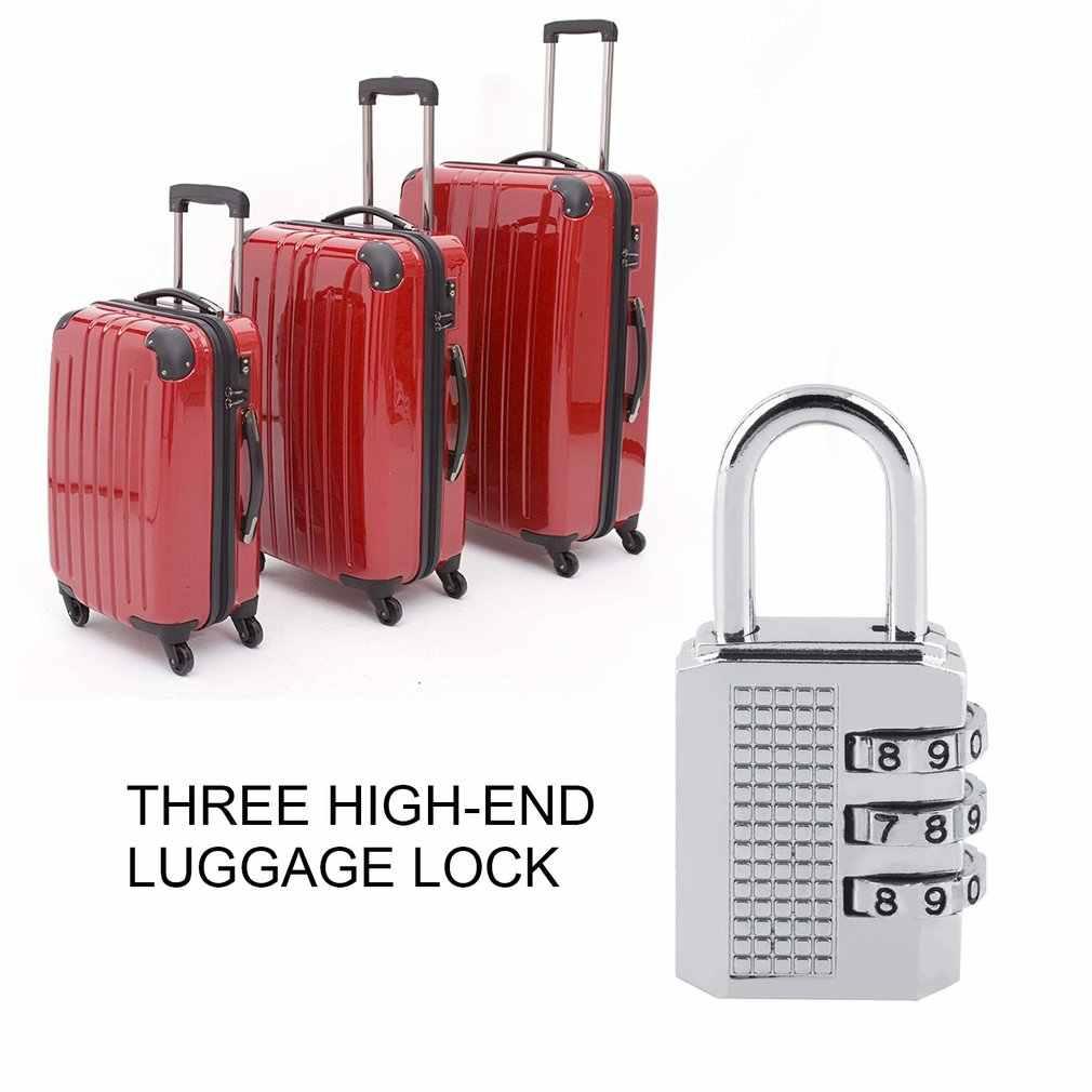 3 4 Digit Password Lock Combination Zinc Alloy Security Lock Suitcase Luggage Coded Lock Cupboard Cabinet Locker Padlock