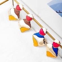 Fever&Free New Korean Irregular Geometric Drop Earrings For Women Friends Hanging Statement Dangle Earrings Fashion Jewelry 2020