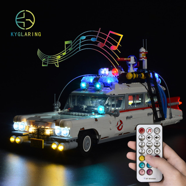 LED Light Kit For lego creater Ghostbusters 10274 ecto-1  (only light included)