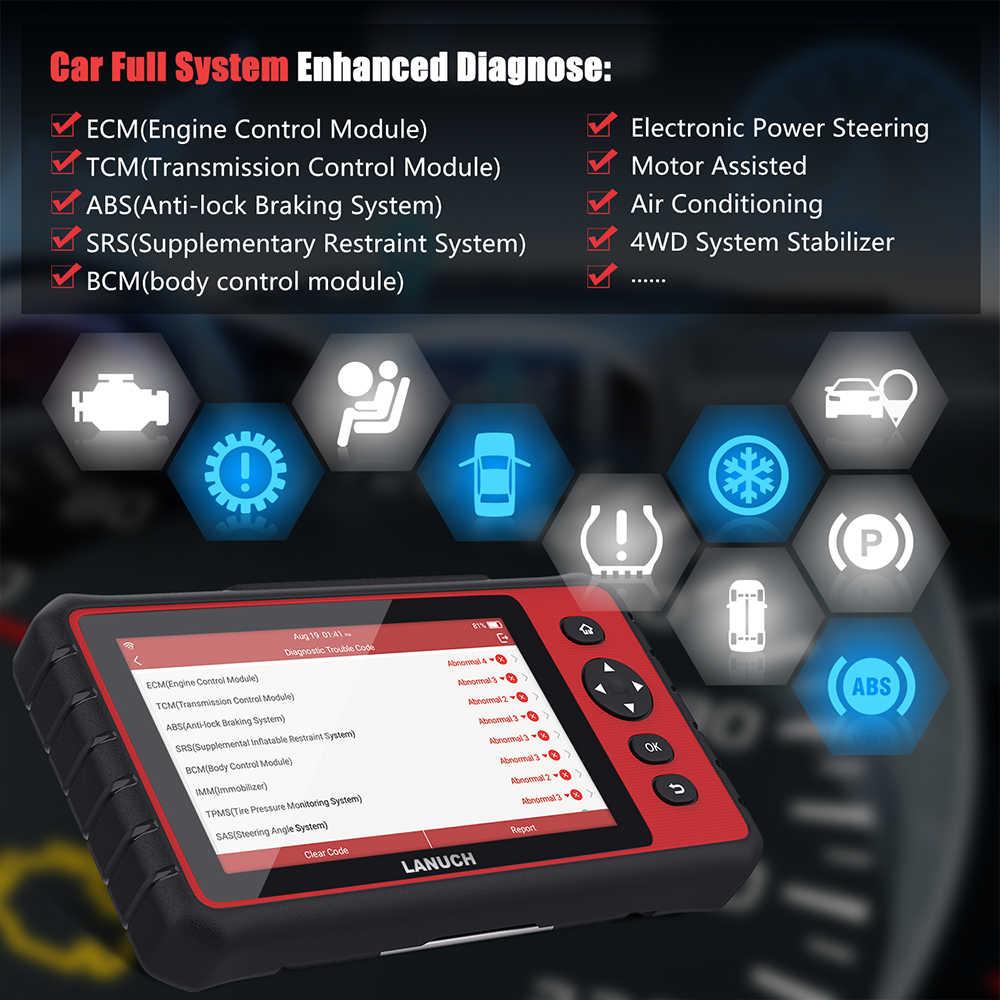 起動 X431 CRP909 Obd2 車診断ツール Wifi フルシステムオート Abs SAS DPF EPB オイルリセット Obd 2 自動車スキャナ PK MK808