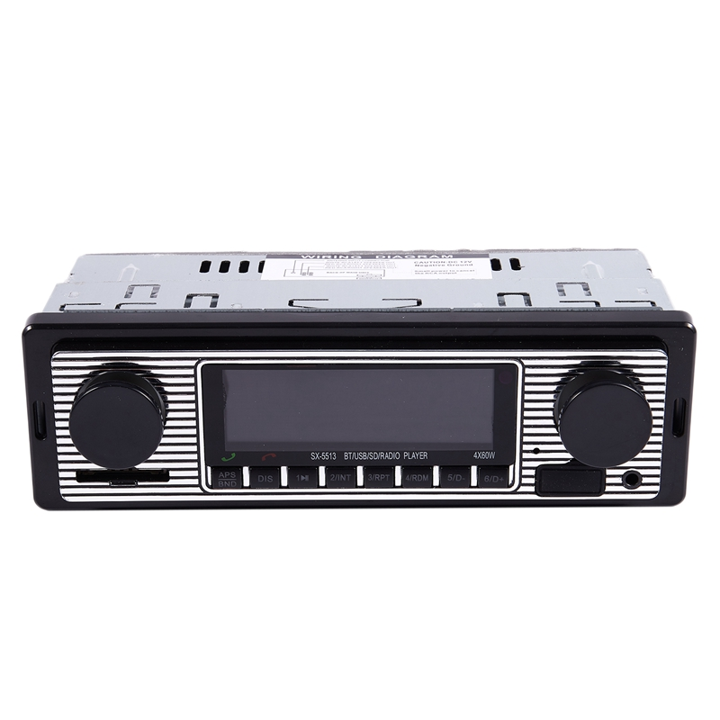 NEW-Bluetooth Vintage Car Radio MP3 Player Stereo USB AUX Classic Car Stereo Audio