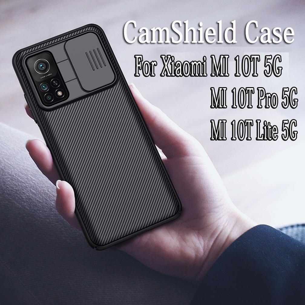 Dla Xiaomi Mi 10T Mi 10T Pro 5G przypadku Nillkin CamShield przypadku slajdów przypadku ochrony kamery dla Xiaomi MI 10T Lite 5G tylna okładka
