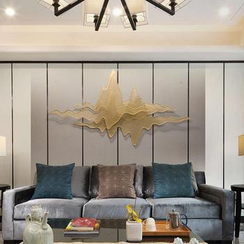Xuanguan Living Room Club Hotel Soft Wall Decoration Double-layer Mountain Shadow Three-dimensional Metal Wall Decoration