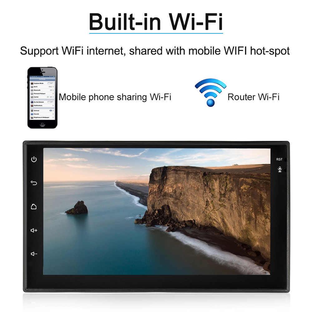 """7 """"Android 6,0 2Din автомобильный Радио gps навигатор мультимедийный плеер радио автомобиль с BT wifi AM/FM Бесплатная карта для bmw e46 e90 e60 e39 e36"""