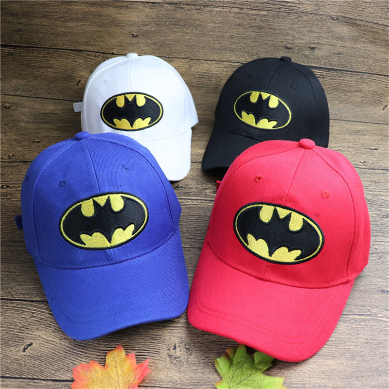 Adjustable NEW Marvel The Avengers Batman Sun Sign Hip Hop Hat Model Christmas Gift Cap Toys