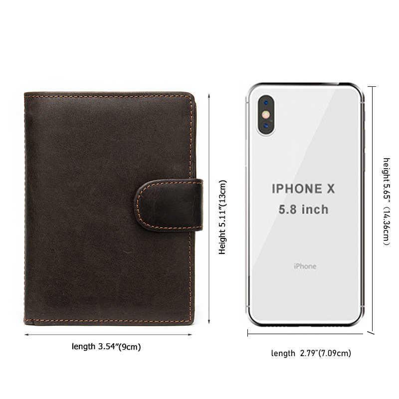 WESTAL portefeuille en cuir pour hommes portefeuilles hommes crazy horse sac à main pour hommes/pochette pour porte-carte sac d'argent vintage 8301