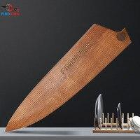 Findking 2018 novo design de madeira sólida cobre facas guarda alto grau cinza faca de madeira capa para chef sacos