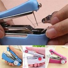 Мини ручная швейная машина стежка шитье дома DIY Швейные машины случайный цвет