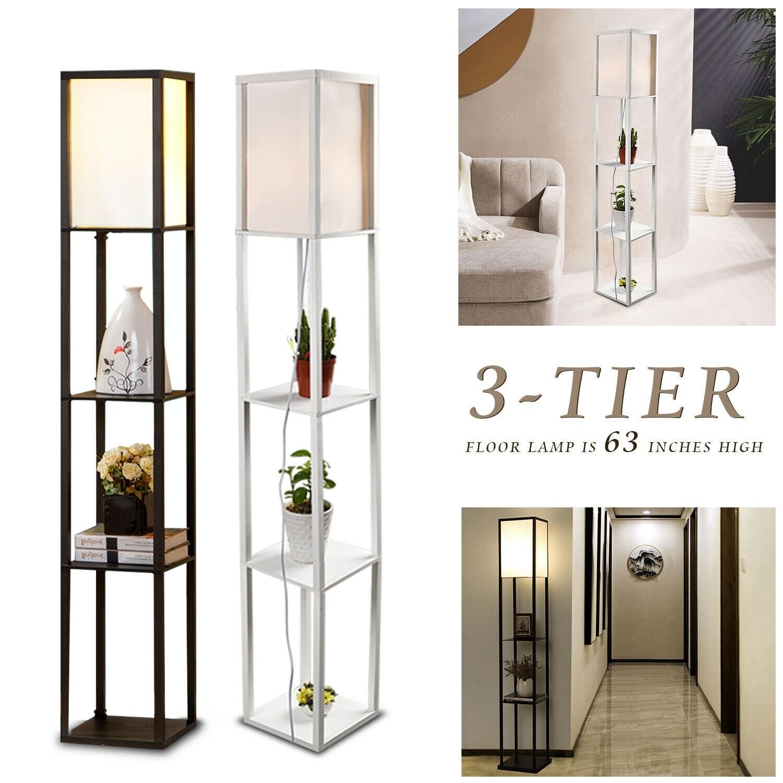 Modern Shelf Floor Lamp Standing Light