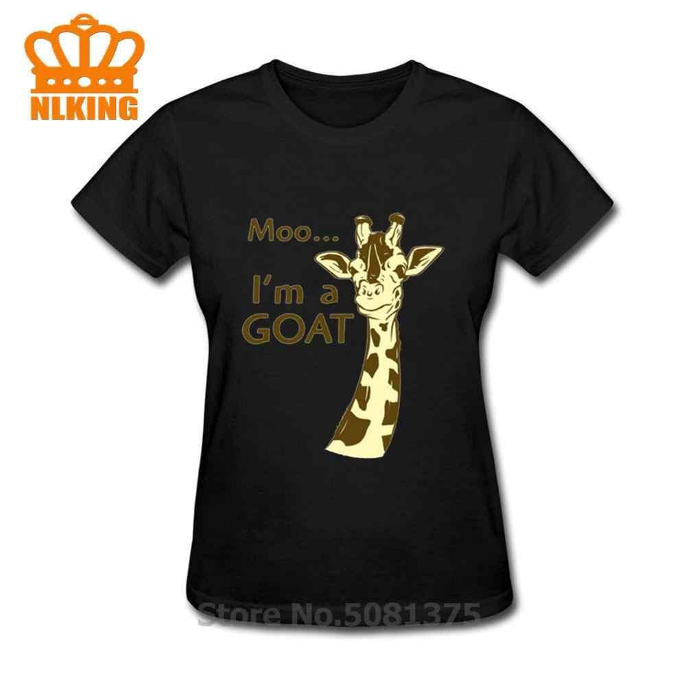 Moo Im Keçi Zürafa T-Shirt komik söyleyerek zürafa sarcastic yenilik mizah Kadın tişörtleri Komik T Shirt kadın Gömlek femme TShirt