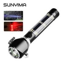 SUNYIMA 5 Вт открытый блики солнечный многофункциональный огонь фонарик предупреждение свет безопасность молот кемпинг свет USB выход