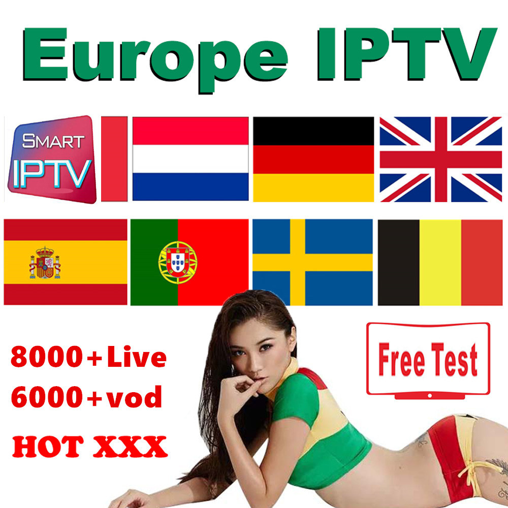 Europe IPTV Subscription For Sweden UK German Spain Dutch Norway French Poland Israel Smart TV Android Box IPTV M3U X96 Min