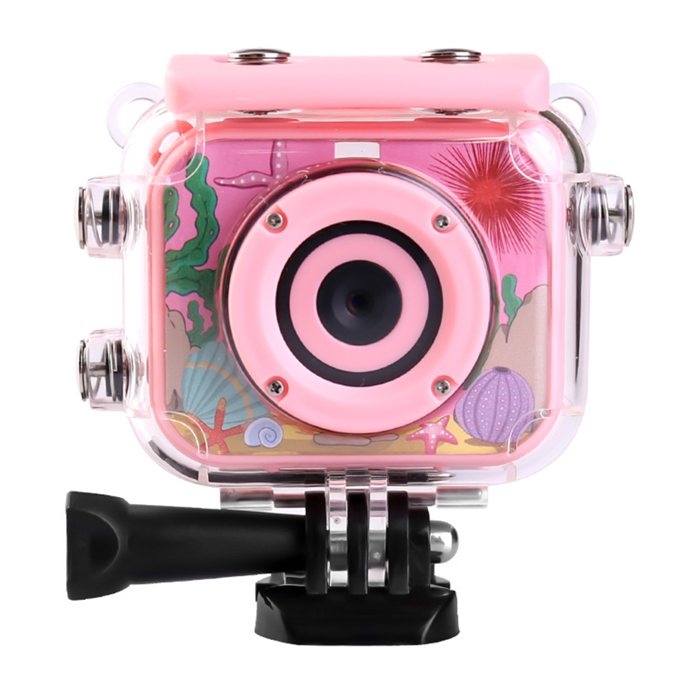Waterproof Camera USB Rechargeable Digital Anti Fall Toys Video Mini HD 1080P Camcorder Recoder 2 Inch Screen Children ABS Gift image