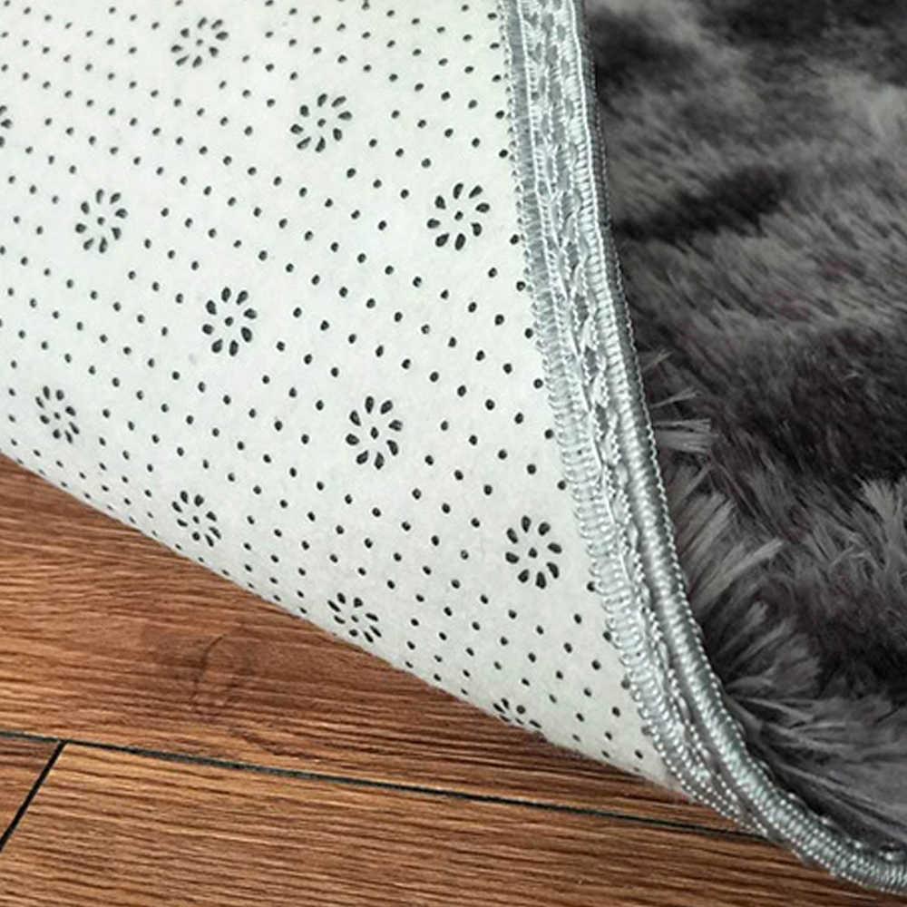 타이 염색 그라디언트 컬러 플러시 슈퍼 소프트 카펫 안티-슬립 바닥 테이블 매트 푹신한 지역 깔개 거실 침실 홈 장식