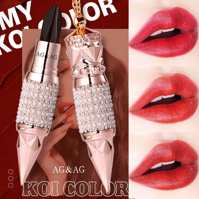 Velvet Matte Lipstick Set Box Luxury Queen Crown Matt Tricolor Lip Stick Makeup Long-lasting Waterproof Lips Cosmetics