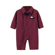 New Autumn Baby Boy Casual Bodysuits Infant Striped Print Long Sleeve Children Bodysuit Jumpsuit Outfits