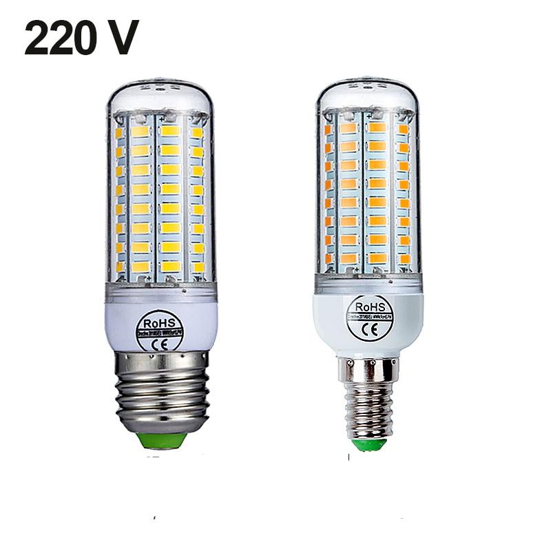 Goodland E27 LED Ampoule E14 lampe à LED 220V Ampoule blanc chaud blanc froid 24 36 48 56 69 72 LED s Ampoule de maïs pour léclairage domestique