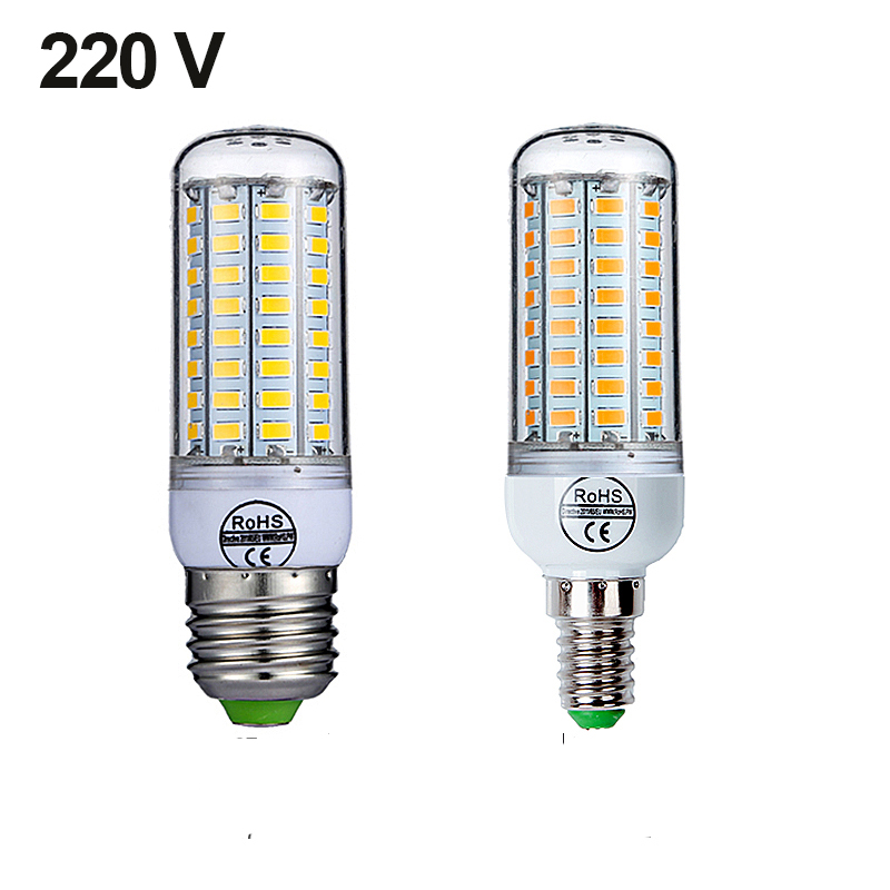 Goodland E27 LED Bulb E14 LED Lamp 220V Ampoule Warm White Cold White 24 36 48 56 69 72 LEDs Corn Bulb for Home Lighting