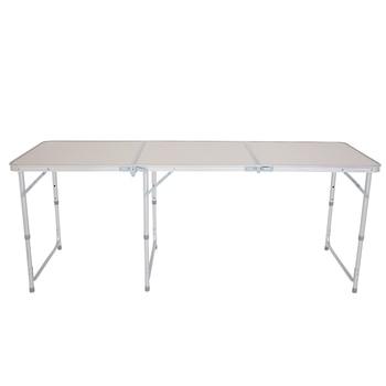 【US Warehouse】180 x 60 x 70cm Home Use Aluminum Alloy Folding Table White