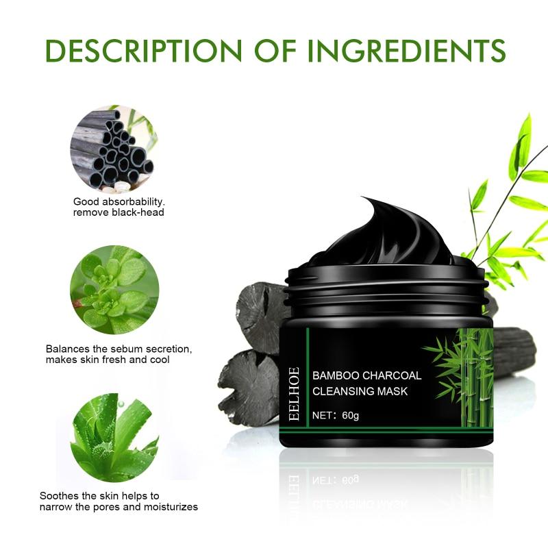 EELHOE Bamboo Charcoal Peeling Mask Tear Pull Black Blackhead Remove Acne Shrink Pores Cleansing Mask Korean Cosmetics TSLM1
