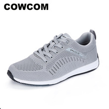 Lace COWCOM Shoes Sports Breathable Men's Fashion Summer Outdoor Shallow Mesh Wear-Resistant