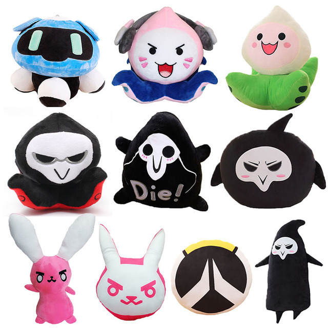 18-55cm Overwatches Plush Toys Onion Small Squid Soft Stuffed Plush Doll Toy Cartoon Animal Peluche for Children Christmas Gifts