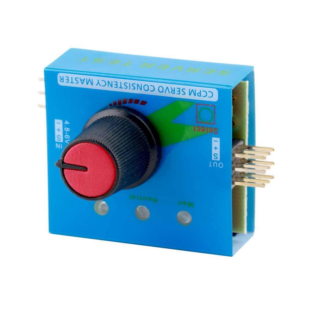 Comprobador de varios servos digitales 3CH ECS RC congruencia control de velocidad maestro canales de alimentación CCMP Meter Checker
