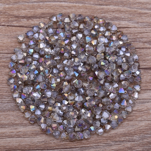 Яркие фиолетовые AB 4 мм 100 шт Австрийские хрустальные биконусные бусины 5301 свободные хрустальные бусы ожерелье браслет ювелирные изделия ручной работы S-61 - Цвет: 39
