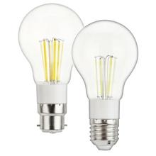 Vintage Retore Edison A55 E27 LED Filament Light Bulbs 3W 4W 6W B22 Bayonet AC 85-265V DC 12V Home Decoration Lighting Lamps YZ