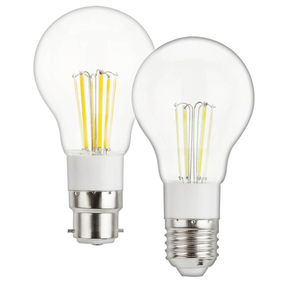 Vintage Retore Edison A55 E27 <font><b>LED</b></font> Filament Light Bulbs <font><b>3W</b></font> 4W 6W B22 Bayonet AC 85-265V DC <font><b>12V</b></font> Home Decoration Lighting Lamps YZ image