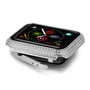 Image 4 - New Luxury Crystal Diamond watch Case cover For apple watch 4 44mm 40mm protection apple watch 42mm 38mm for iwatch series 3 2 1