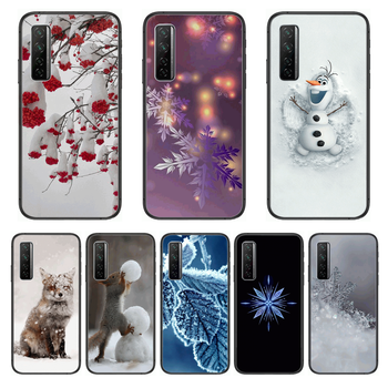 Beautiful flower snowflake animal Phone Case For Huawei Nova p10 lite 7 6 5 4 3 Pro i p Smart ZBlack Etui 3D Coque Painting Hoe image