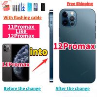 Custodia posteriore fai-da-te per cambiare iphone 11 Pro max in iphone 12 Pro Max custodia 11promax come 12promax + cavo lampeggiante + regalo