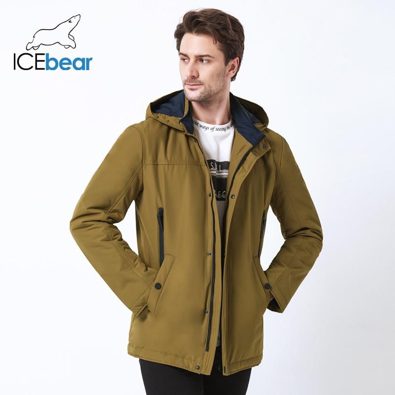 ICEbear 2019 hoge kwaliteit jas herfst nieuwe casual kraag mannen jas afneembare hoed merk mannen MWC18123I-in Parka's van Mannenkleding op  Groep 1